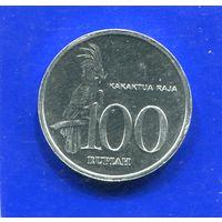 Индонезия 100 рупий 1999 UNC