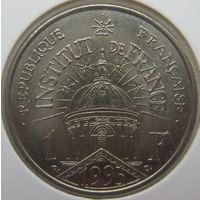 Франция 1 франк 1995 г. 200 лет Институту Франции. В холдере (gk)