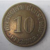 Германия. 10 пфеннигов 1910 A . 1-62