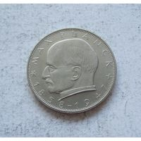 Германия ФРГ 2 марки 1970 (G - Карлсруэ) Макс Планк