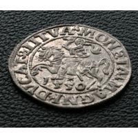 Полугрош 1550, Жигимонт Август, Вильно. Окончания легенд: Ав - LI, Рв - LITVA. Штемпельный блеск, красивое коллекционное состояние