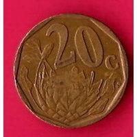 46-05 ЮАР, 20 центов 1997 г.