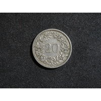 Швейцария 20 раппенов, 1884