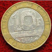 6951:  10 франков 1991 Франция