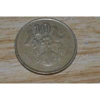 10 центов 1988 Кипр КМ# 56.2 никелевая латунь