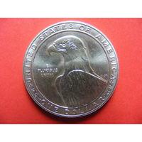 1 доллар 1983S 1984 LOS ANGELES OLYMPICS - DISCUS.  KM# 209 (XXIII летние Олимпийские Игры - Дискобол)
