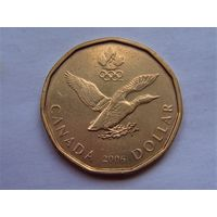 "Канада 1 доллар 2006 ""ЗОИ в Турине"""