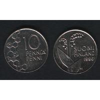 Финляндия km65 10 пенни 1996 год (M) (f37)