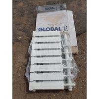 Алюминиевый радиатор Global  8 секций.