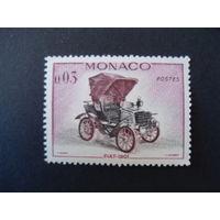 Монако. Mi:MC 675 1961 год ** Фиат-1901, автомобиль, машина