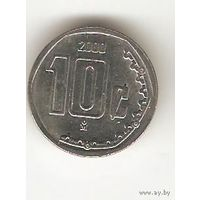 МЕКСИКА. 10 ЦЕНТАВО 2000
