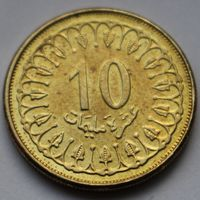 Тунис, 10 миллимов 2013 г