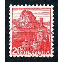 35: Швейцария, почтовая марка, 1936 год, номинал 20с, SG#375A