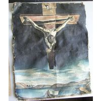 Картина неизвестного художника 30х37 см холст масло