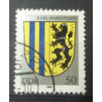 ГДР герб Карл-Марк-Штадта 1984