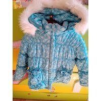 Уютная и теплая куртка на зиму для девочки