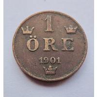 Швеция, 1 ore 1901 год