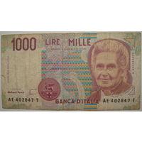 Италия 1000 лир 1990 г.