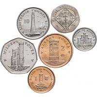 Остров Мэн набор 6 монет 2014 UNC