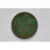 Австро-Венгрия.1 крейцер 1851г