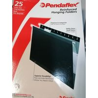 Файл подвесной, А4 черный, Pendaflex 25 шт и дыроколы
