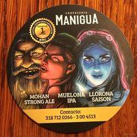 "Подставка под пиво пивоварни ""Manigua"" /Колумбия/ No 1"