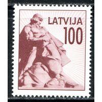Латвия MiNr 333 100К из серии Монументы 1992 г стандарт