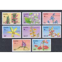 [1529] Лесото 1990. Флора.Цветы.Орхидеи. 8 МАРОК+ БЛОК.