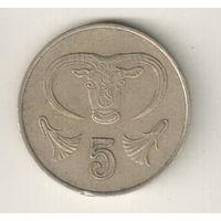 Кипр 5 цент 1985