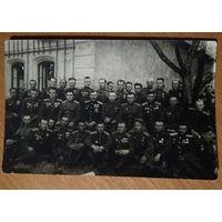 Групповое фото советских офицеров. 1945-46 г. 9х14 см