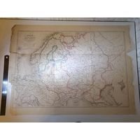 Карта России в начале царствования Петра Великого