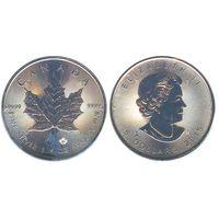 Канада 5 долларов 2013,Кленовый лист,  1 унция