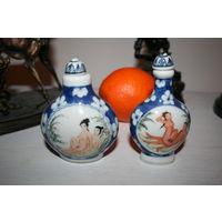 Китай Эротика опиумные бутылки фарфор 19 век ручная роспись