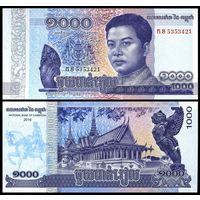 Камбоджа. 1000 риелей 2016. [UNC]