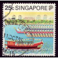 1 марка 1990 год Сингапур Все на вёсла 601