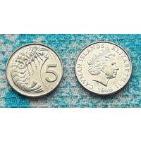 Каймановы острова 5 центов. Креветка. Инвестируй в монеты планеты