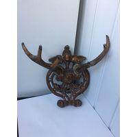 Винтажная вешалка декоративная Рога Силумин