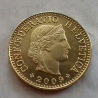 5 раппен, Швейцария 2009 г., AU