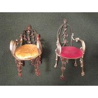 Стул. Кресло. Игольница. Мебель для кукол винтажная. РУЧНАЯ РАБОТА!