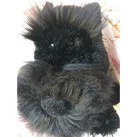 Ризеншнауцер чёрный мягкая Игрушка собака Очень удачно скопирован забавный пёсик