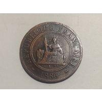 Французский Индокитай 1с 1886г