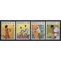 Бурунди /1969/ 50-лет со дня МОТ / С/Х / Michel #BI 488-491 / Серия 4 Марки