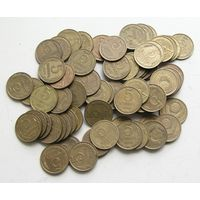 Кучка монет по 5 копеек СССР 75 шт.
