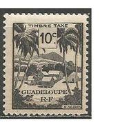 Гваделупа. Ландшафт. Доплатная марка. 1947г. Mi#41.