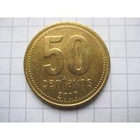 АРГЕНТИНА 50 СЕНТАВО 2010 ГОД