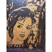 Картина девушка дерево СССР