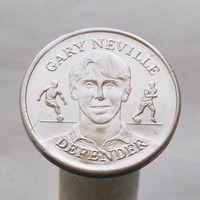Английский футбольный жетон официальная сборная GARY NEVILLE