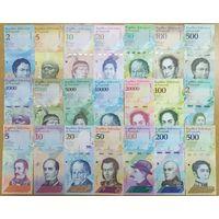 Супернабор банкнот Венесуэлы - 21 шт - UNC