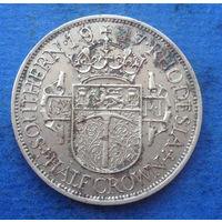 Южная Родезия британская колония 1/2 кроны 1947 Георг VI