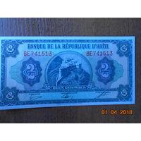 Гаити 2 гурда образца 1979 года UNC